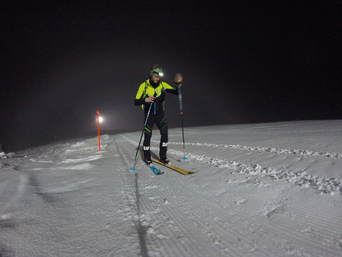 Night Ski Touring Slope